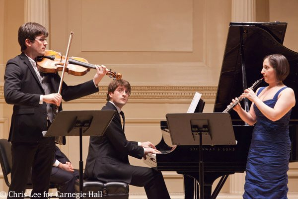 Performing Loeffler's Two Rhapsodies in Weill Recital Hall (Carnegie Hall), with Nathan Schram (viola) and David Kaplan (piano)