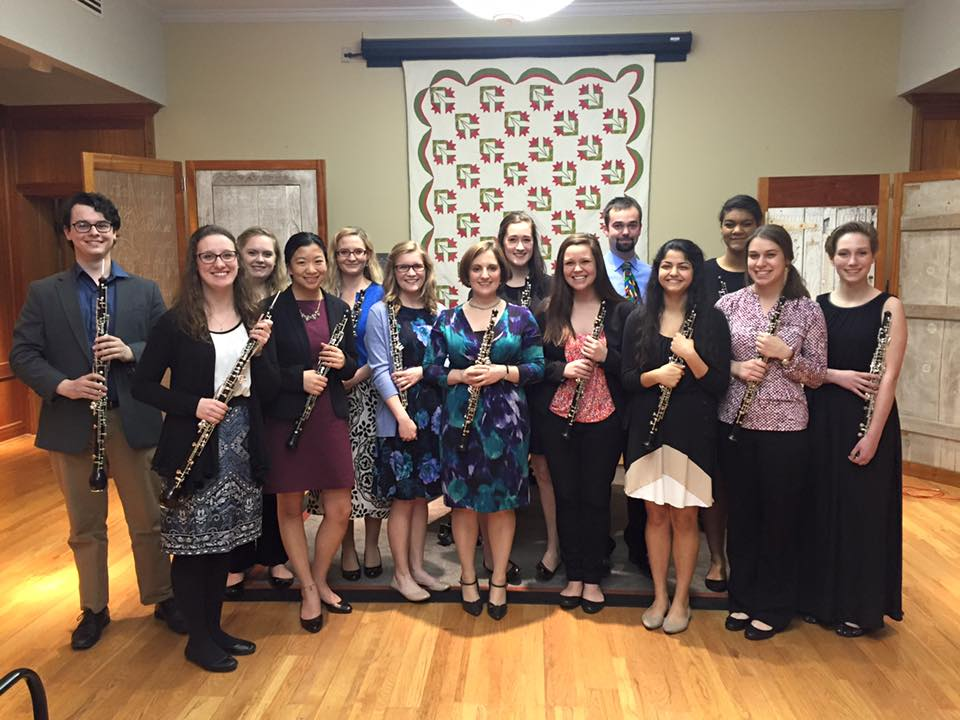 Members of the University of Kentucky Oboe Studio (April 2016)