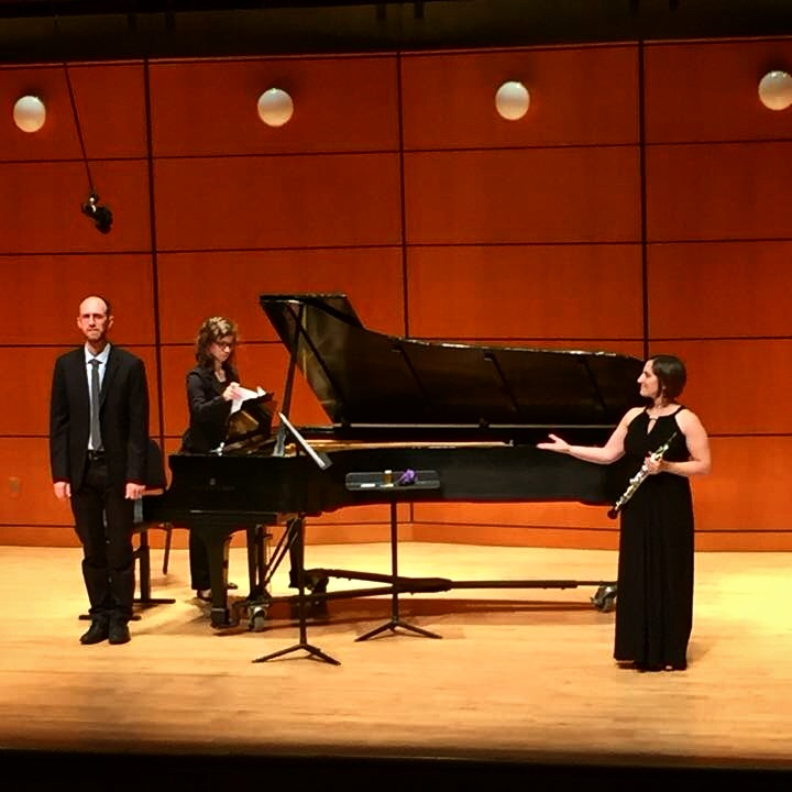 Performing with Dr. Jacob Coleman, piano, at the University of Georgia (October 2015)