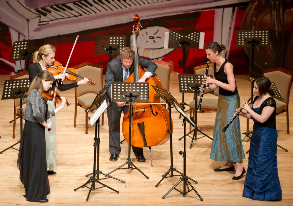 Performing the Prokofiev Quintet with members of Decoda at the Abu Dhabi Music and Arts Festival (March 2013)