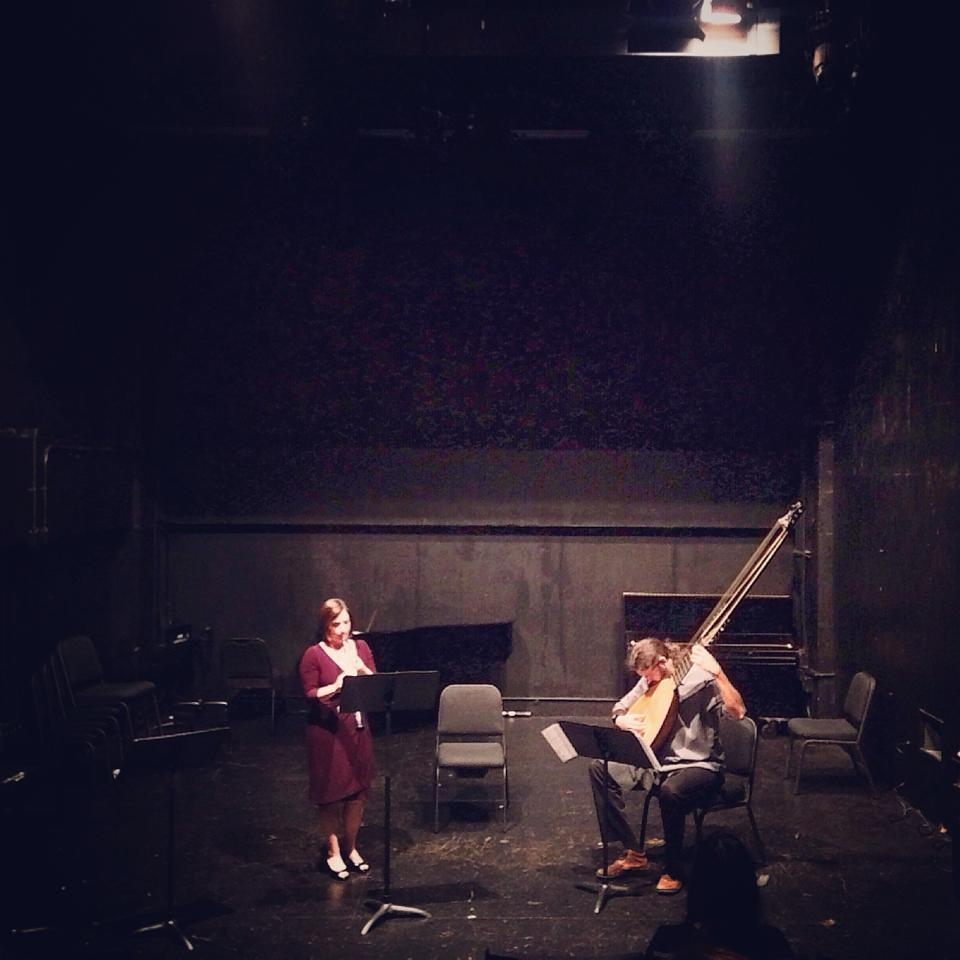 Performing with Dieter Hennings, theorbo, at the International Double Reed Society Conference in New York, NY (August 2014)