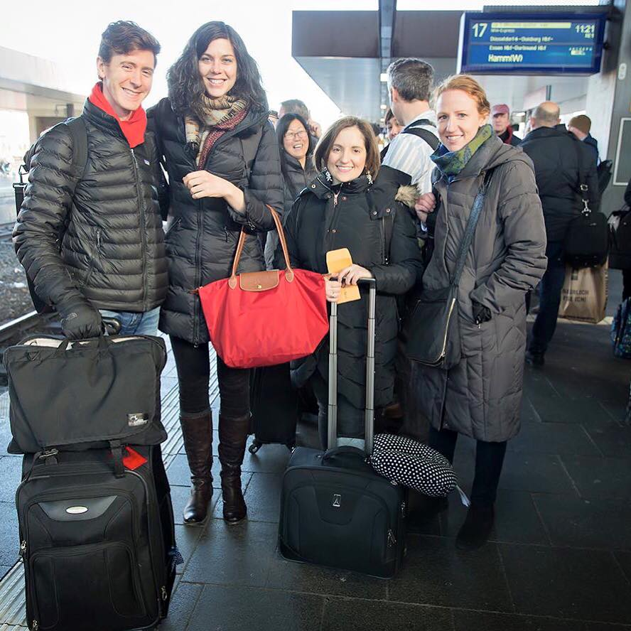 With members of the National Symphony Orchestra while on tour in Europe (February 2016)