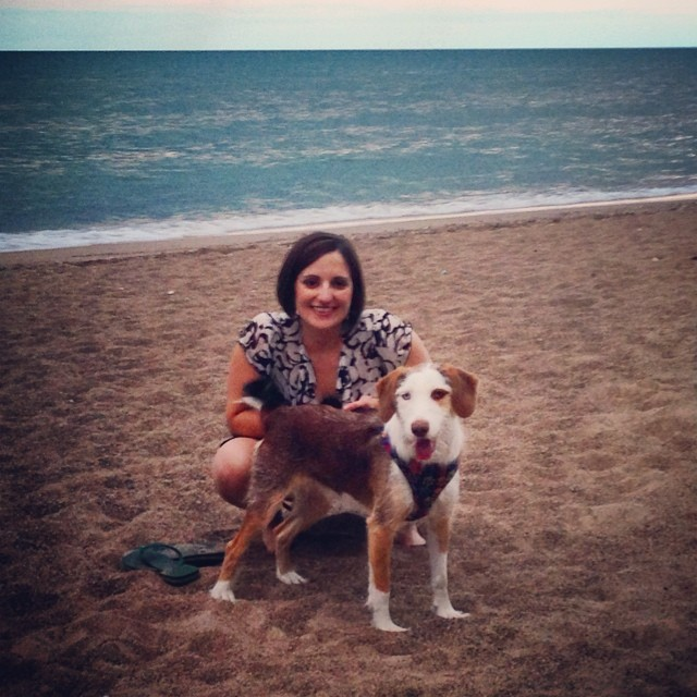 With Rita in Chicago on the shores of Lake Michigan (August 2014)