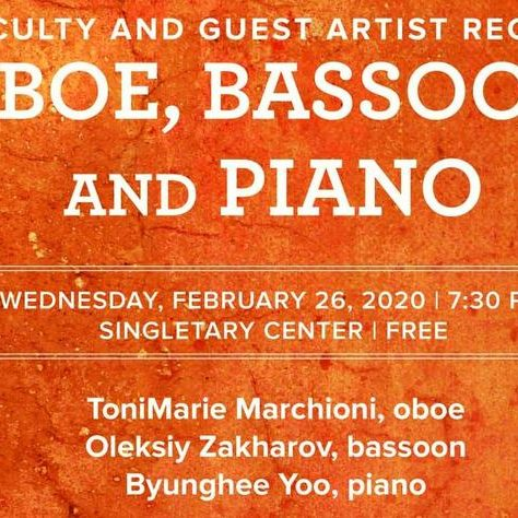 February 2020 | Oboe, Bassoon and Piano Recital to Feature Oleksiy Zakharov, Byunghee Yoo